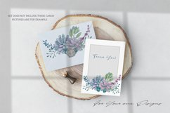 Watercolor Set Tender Succulents Product Image 3