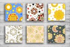 Sun and stars 12 seamless patterns Product Image 2