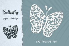Free Butterfly Paper Cut Design Bundle for Cricut and Silhouette Product Image 2