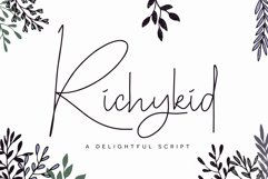 Richykid Font Product Image 1