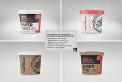 Paper Tub with Lid Packaging Mockup Product Image 5