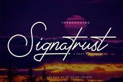 Signatrust / 2 font signature Product Image 1