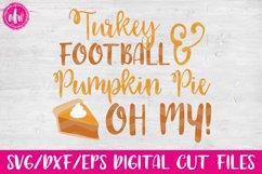 Turkey, Football, & Pumpkin Pie - SVG, DXF, EPS Cut Files Product Image 1