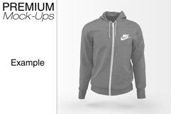Men's Full-Zip Hoodie Mockup Product Image 4
