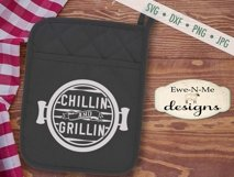 Grilling BBQ Themed Pot Holder Bundle - Fathers Day SVG Product Image 4