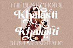 Khalasti - Beautiful Serif Font Product Image 5