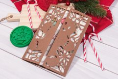 Gingerbread Man Christmas Invitation cutting file Product Image 1