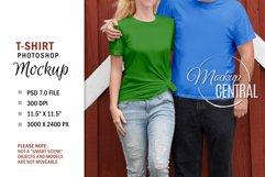 Couple T-Shirt Sublimation Mockup, Smart Object PSD File Product Image 2