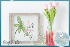 It Is Well With My Soul Quote with Dragonfly Mandala SVG Product Image 5