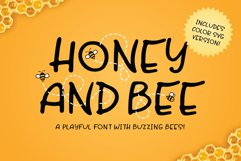 Honey and Bee Font Product Image 1