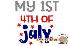 Cute baby My 1st 4th of July svg, July 4th firecracker svg Product Image 2