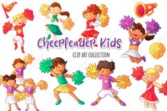 Cheerleader Kids Clip Art Collection Product Image 1