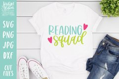 Bookish Reading SVG, Reading Squad SVG Cut File Product Image 1
