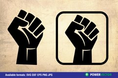 Fist for Power|SVG, Dxf, Eps Png Silhouette Vector Clipart Product Image 1