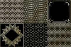 Art Deco Gold Foil and Black Digital Papers, Gatsby Style Product Image 3