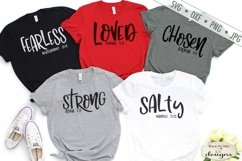 Strong | Salty | Loved | Chosen | Fearless | Christian SVG Product Image 1