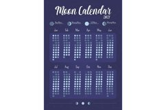 Moon calendar creative planner page design Product Image 1