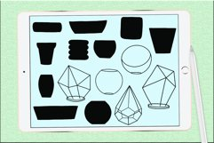 Succulents and pots stamp brushes Product Image 6