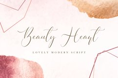 Beauty Heart - Lovely Calligraphy Font Product Image 1