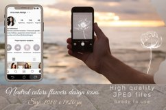 Pastel Flower instagram highlight icons, trendy stories Product Image 3