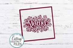Mama Mothers Day card paper cut template svg dxf Product Image 4