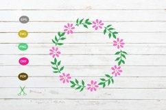 flower floral frame svg,flower wreath Product Image 1