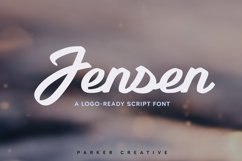 Jensen - Logo-Ready Script Font Product Image 1