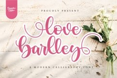 love barlley // lovely font Product Image 1
