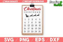 Christmas Countdown Advent Calendar SVG Product Image 1