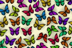 Set of colorful butterflies clipart Product Image 5
