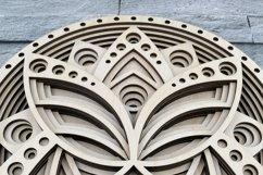 Layered Mandala SVG, Laser cut file Mandala, 3D Lotus Product Image 2