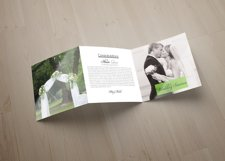Wedding Planner Square Trifold Brochure Product Image 2