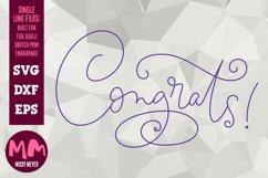 Congrats! - single line for foil quill & sketch pen! Product Image 1