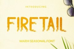 Web Font Firetail Font Product Image 1