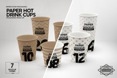 Paper Hot Drink Cups Packaging Mockup Product Image 3
