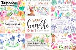 Summer Watercolor Floral BUNDLE Product Image 1