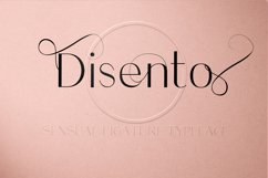 Disento Sensual Ligature Sans Serif Typeface Product Image 9