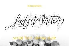 Lady Writer Skinny Font Product Image 1
