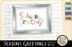 Chistmas SVG - Seasons Greetings Word Art & Vector Clipart Product Image 5