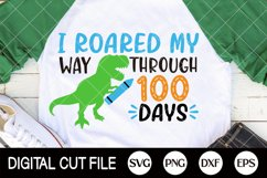 100 Days Of School Svg, 100 Days, Gifts For Teacher Shirts Product Image 2