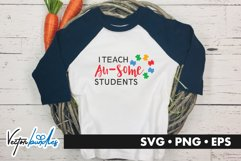 I teach au some students quote svg Product Image 1