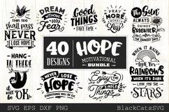 Hope motivational Bundle SVG bundle 40 designs Product Image 1