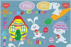 Easter bunny clip art - Personal and commercial use - Easter Product Image 1