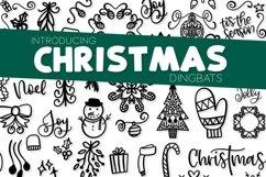 Christmas Dingbats - A Christmas Doodle Font! Product Image 1