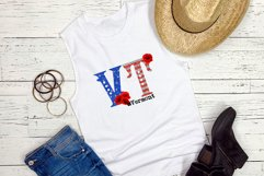 State abbreviation. USA sublimation. Vermont Product Image 2