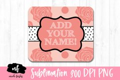 Mouse Pad Monogram Sublimation Design Product Image 1