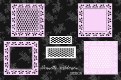 Square Holly cutout Christmas card set cutting file Product Image 1