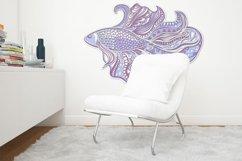 3D Zentangle Fish | 3D Papercut SVG Product Image 5