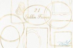 Gold Frame Clipart download. Commercial use. Golden Frames Product Image 1