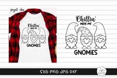Chillin with my Gnomies -Gnome SVG Cut File Product Image 2
